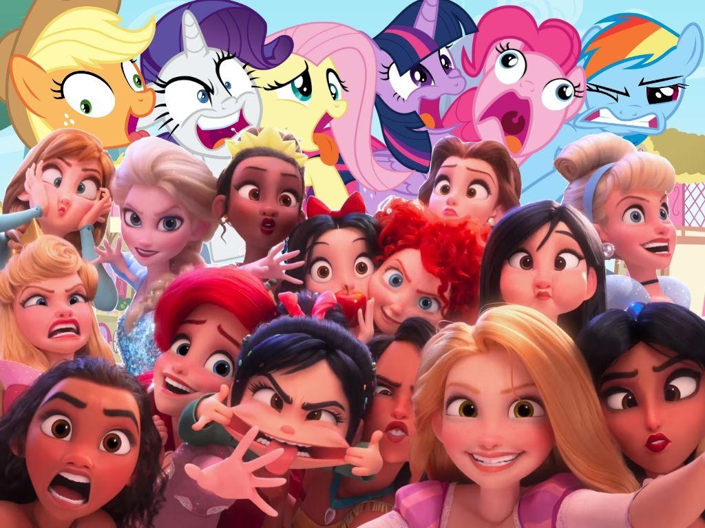 Disney Princesses Selfie: Mane 6