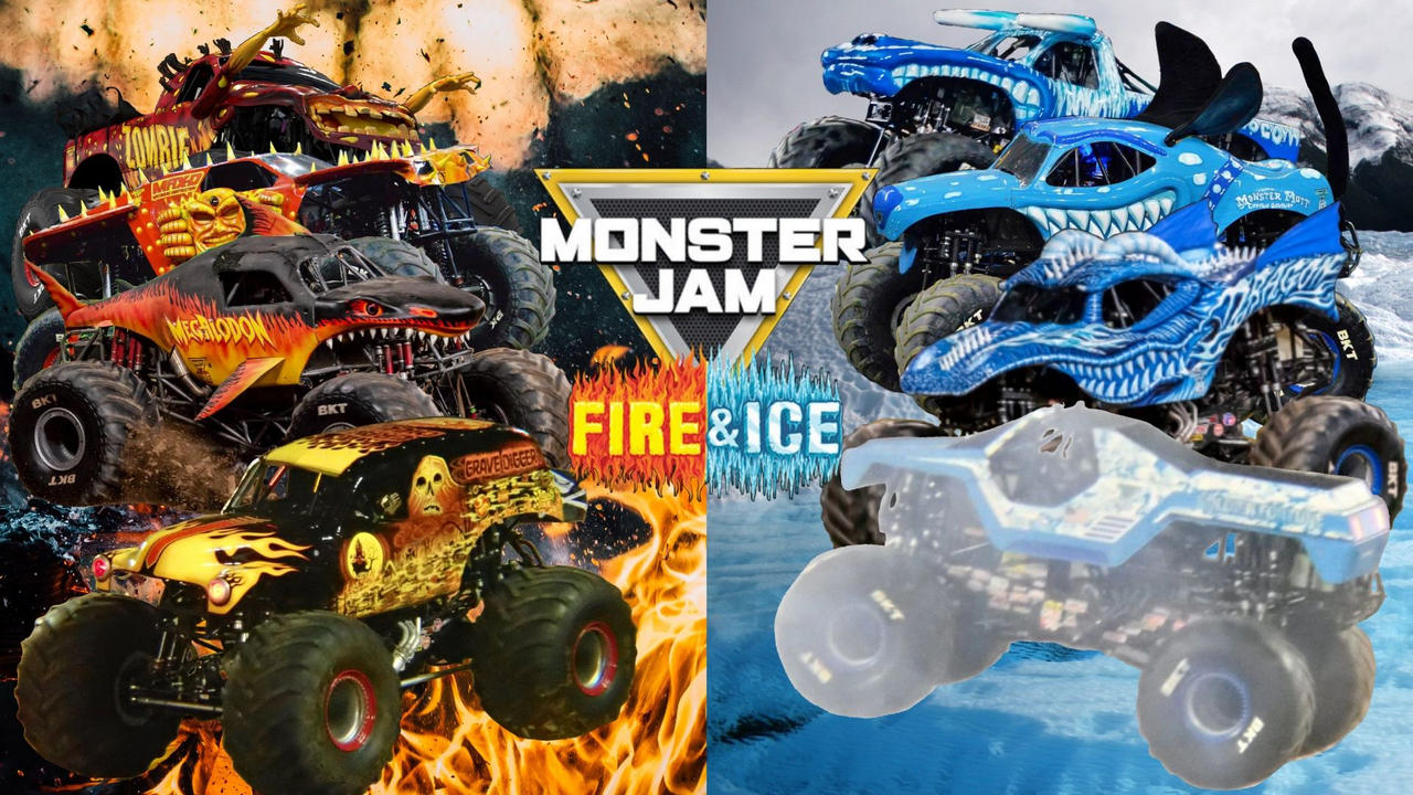 Monster Jam Fire And Ice By Dipperbronypines98 On Deviantart