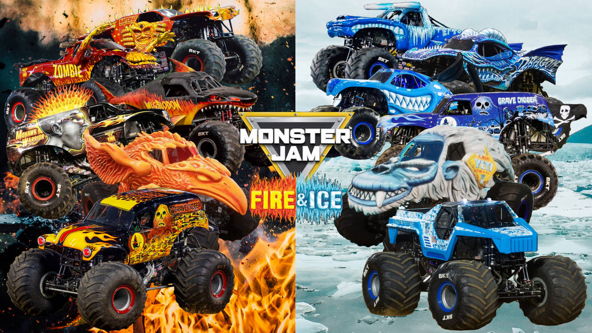 Monster Jam Fire And Ice Ii By Dipperbronypines98 On Deviantart