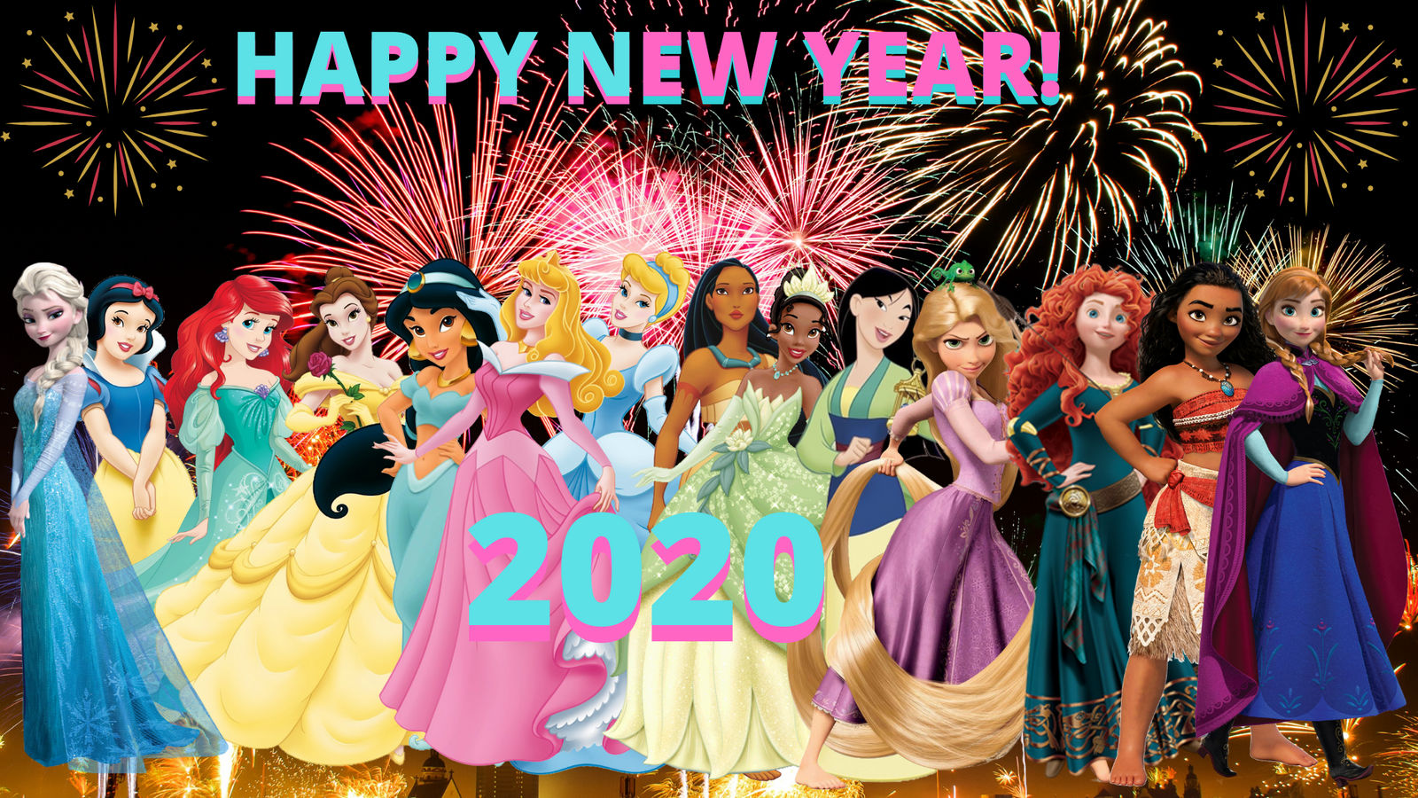 Happy New Years 2020: Disney Princesses by ...