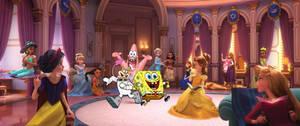 Princesses Meet Spongebob Patrick And Sandy