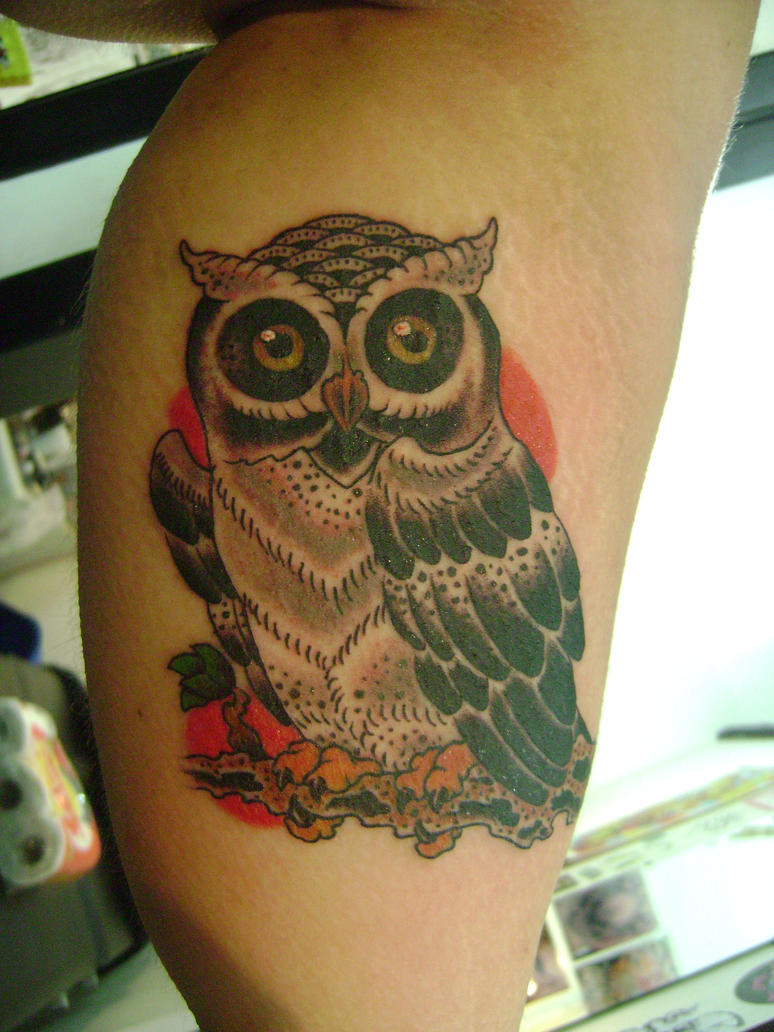 Traditional Owl Arm Tattoos  CreativeFan