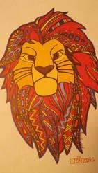 Lion King Simba Mane Design by TumbleweedSlider