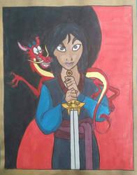 Mulan the Warrior by TumbleweedSlider