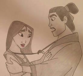 Mulan and Shang  by TumbleweedSlider