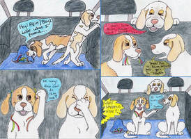 The 'Montster' - Beagle Club Annual Cartoon by TigerSpuds