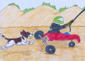 AOSND Cartoon - Springer away! by TigerSpuds