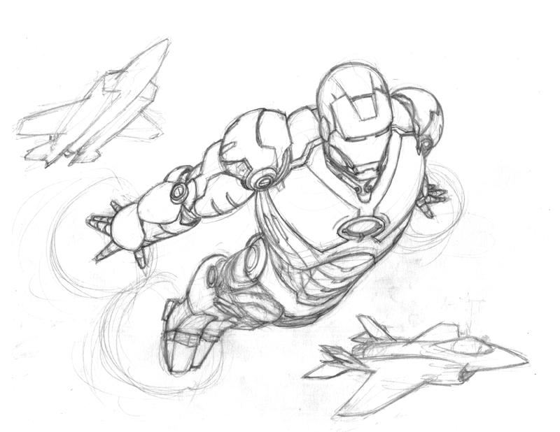 iron man pencils by jamesq