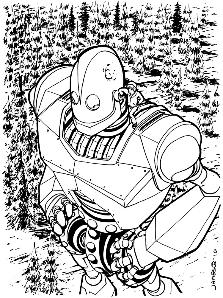 Iron giant by jamesq on deviantart for Iron giant coloring pages