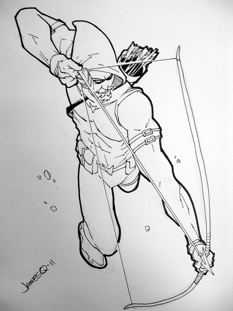 green arrow pitts by jamesq on deviantart - Green Arrow Coloring Pages