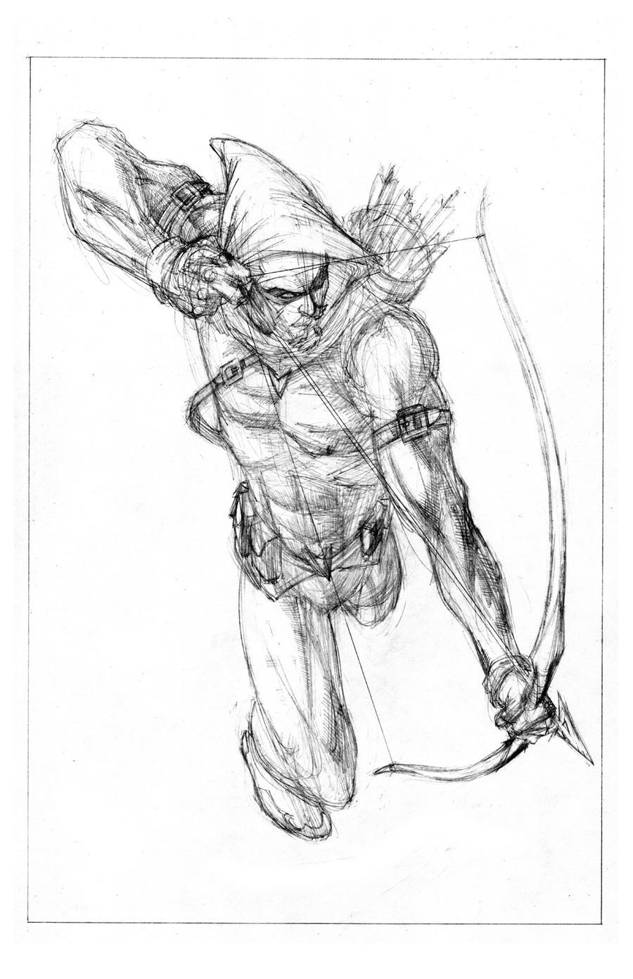 green arrow sketch by jamesq on deviantart