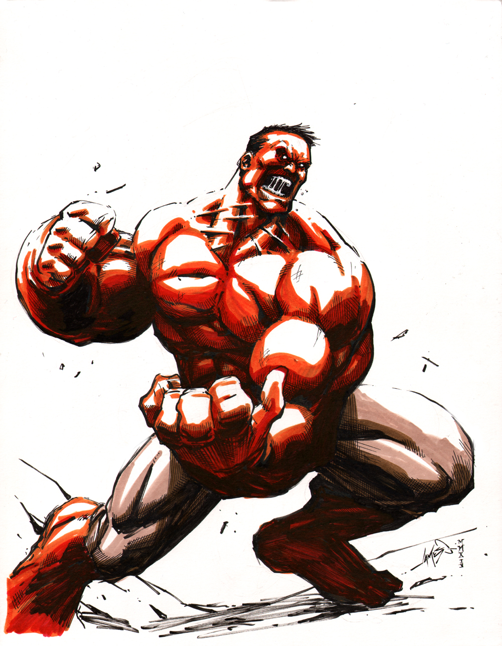 Red Hulk by jamesq