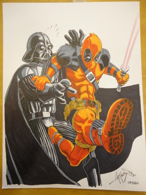 Deadpool Vader by jamesq