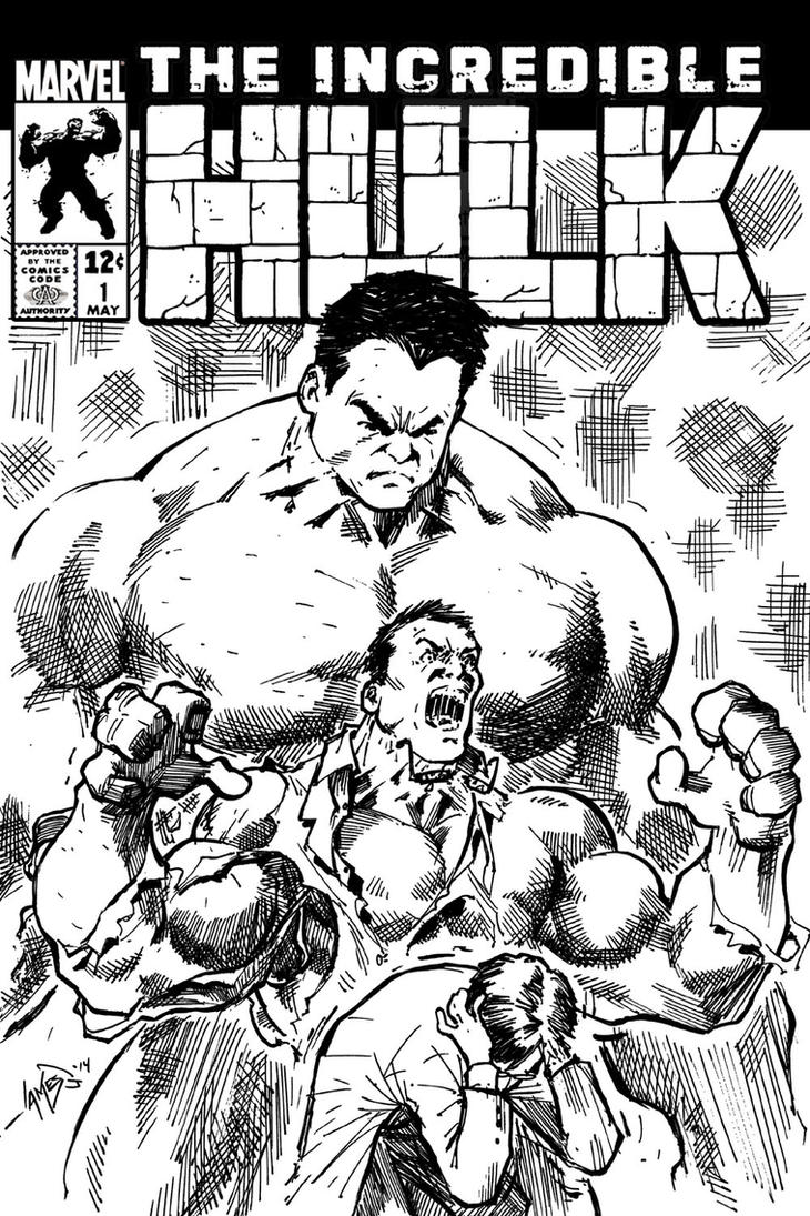 Hulk Sketch Cover by jamesq