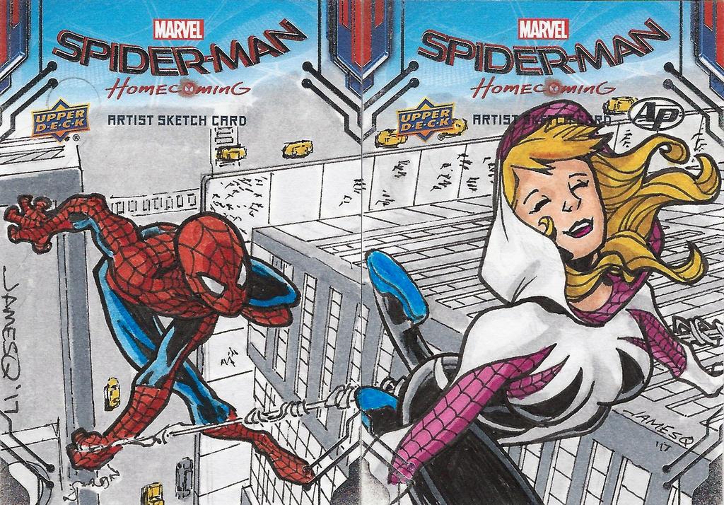 Spider-Man-Gwen Upper Deck Sketch Card Colors