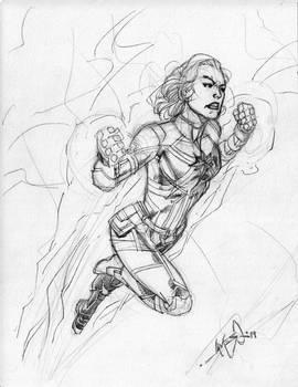 Captain Marvel - Pencils