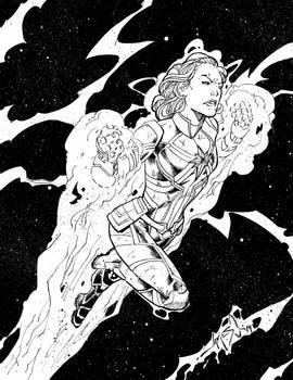 Captain Marvel - Inks