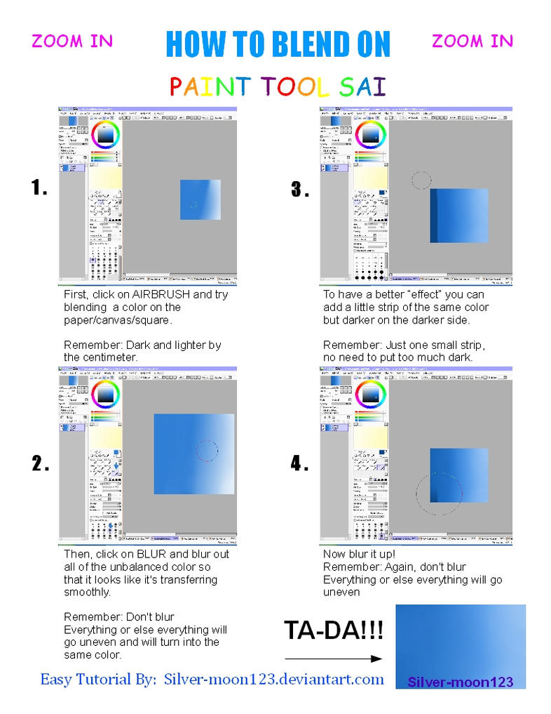 How to blend on paint tool sai by silver moon123 on deviantart for How to make silver paint