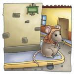 Rata esperando un rato