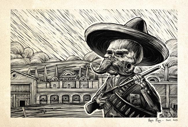 Calavera zapatista by UrielPerez