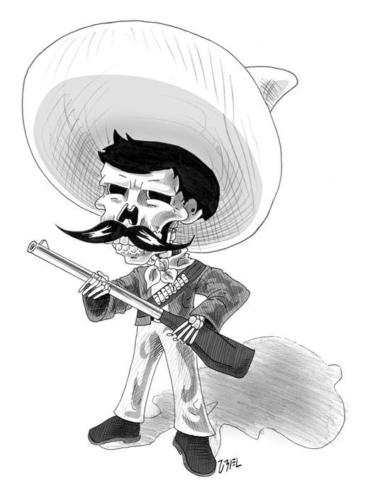 Zapata calaverita by UrielPerez on deviantART