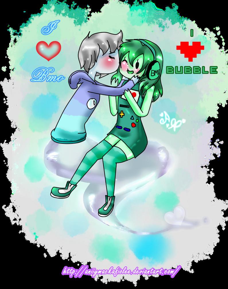 BMO and Bubble Love by AniiYMackaFiolee