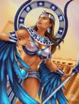 SMITE fanart - Isis Guardian Eternal skin