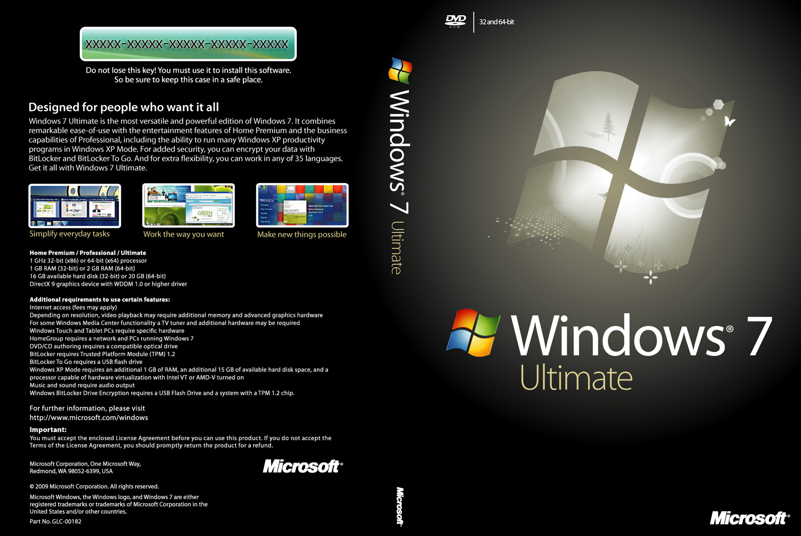 Windows 7 32 Bit Ultimate Product Key