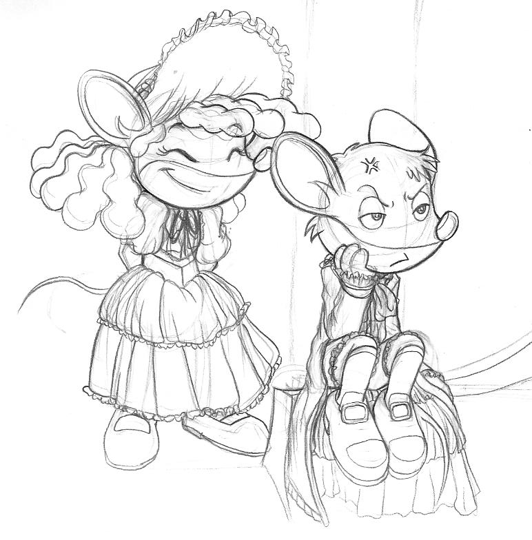 Thea Stilton Characters Coloring Pages Coloring Pages