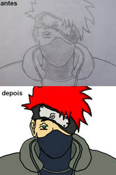 Antes e depois KAKASHI by tagchannel
