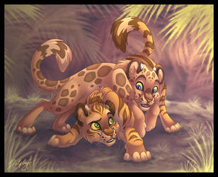 Playful Cubs by DolphyDolphiana