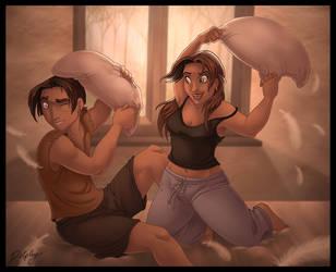 Pillow Fight by DolphyDolphiana
