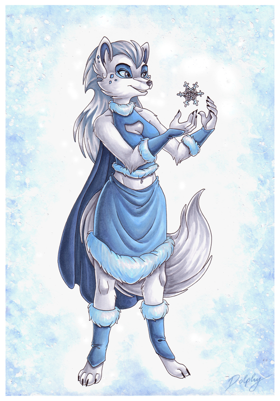 winter wolf by dolphydolphiana on deviantart