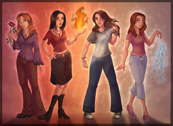 Element Girls by DolphyDolphiana