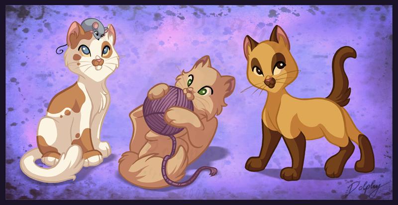 Kittens by DolphyDolphiana