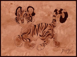 Cheerful Tiger Cub by DolphyDolphiana