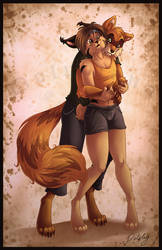 Furry Hug by DolphyDolphiana