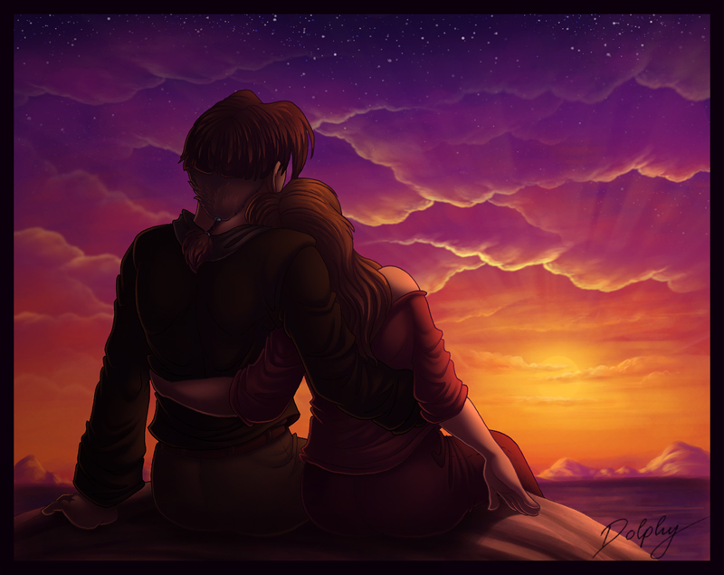 Watching the Sunset by DolphyDolphiana on DeviantArt