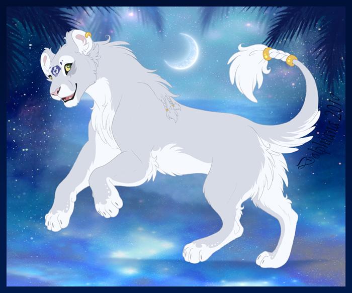 white lioness wallpaper