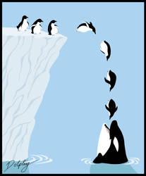 Penguin Suicide by DolphyDolphiana