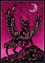 Gryphon Night by DolphyDolphiana