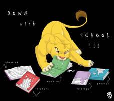 Simba hates school by DolphyDolphiana