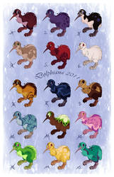 Adoptables -Kiwis by DolphyDolphiana