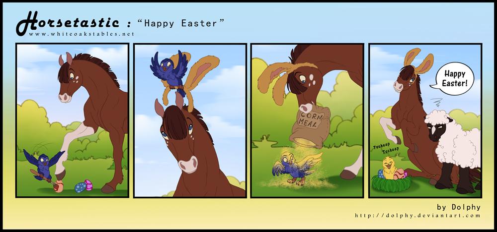 Horsetastic - Happy Easter by DolphyDolphiana