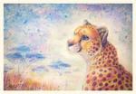 Aquarell Cheetah