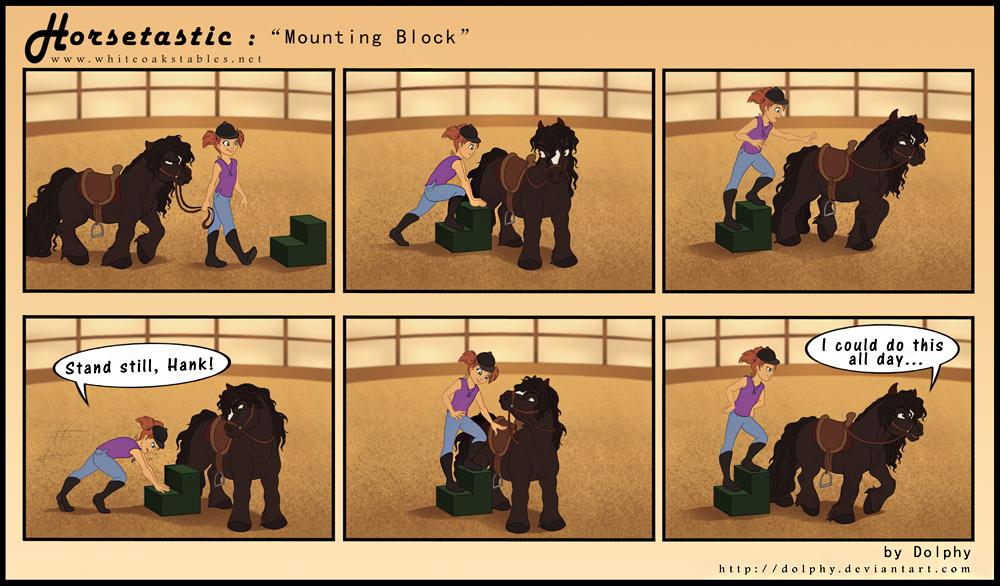 Horsetastic - Mounting Block by DolphyDolphiana