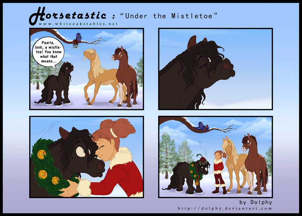 Horsetastic - Under the Mistletoe by DolphyDolphiana