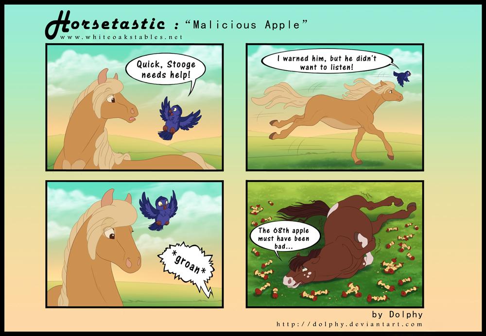 Horsetastic - Malicious Apple by DolphyDolphiana
