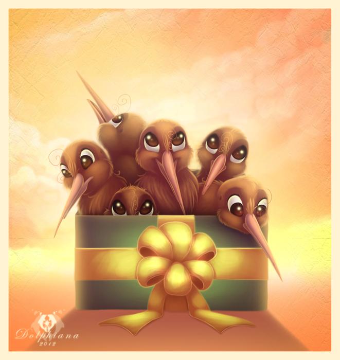 Box of Kiwis by DolphyDolphiana