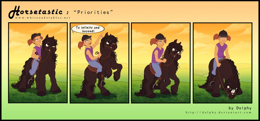 Horsetastic - Priorities by DolphyDolphiana